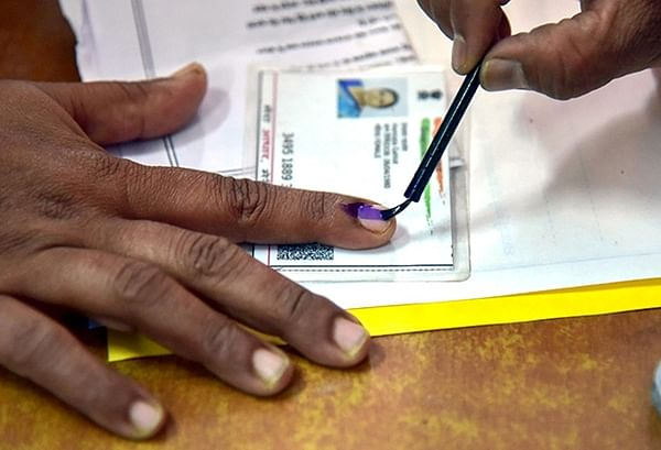 Polling for 120 municipalities and nine corporations in Telangana underway
