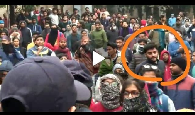 'Akshat Awasthi can clearly be seen with left goons': ABVP distances itself from JNU student; shares video