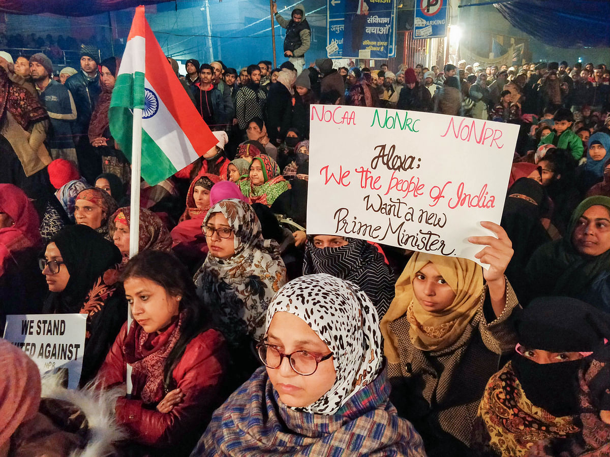 At Delhi's Shaheen Bagh, anti-CAA protesters ring in new year with national anthem