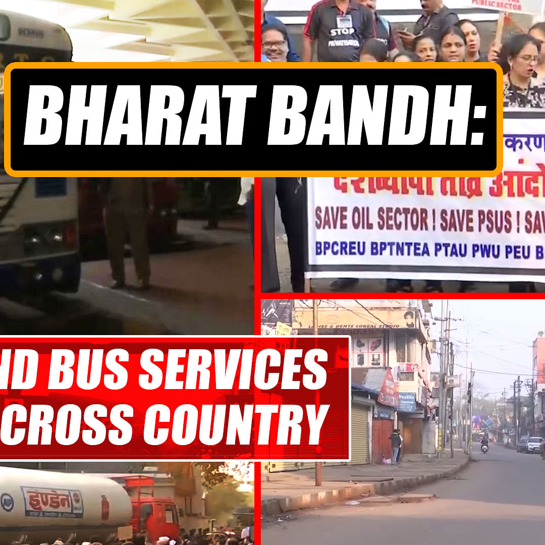 Bharat Bandh: Railway and bus services affected across country