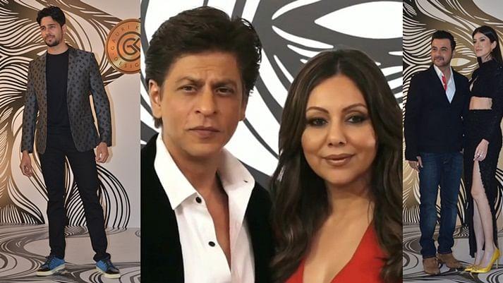 In pics: Shah Rukh Khan steals limelight at Gauri Khan's star-studded bash