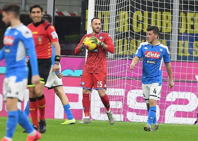 Napoli shock Inter Milan in first leg semifinal in Coppa Italia