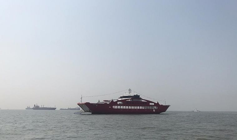 Mumbai: Ro-Ro vessel arrives at Gateway of India from Greece
