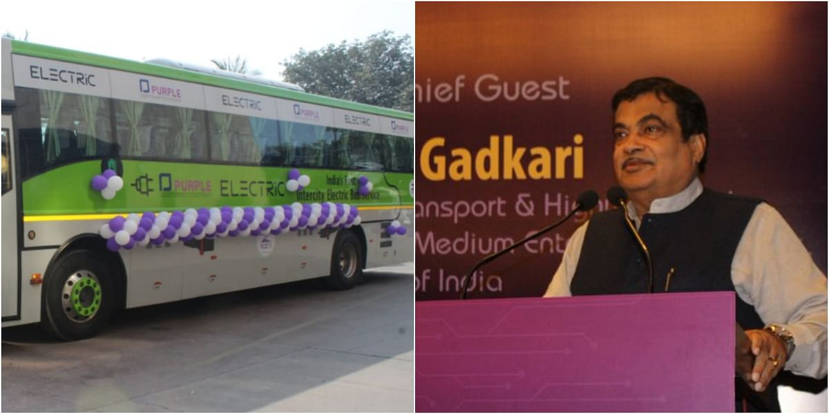 Nitin Gadkari inaugurates first inter-city electric bus service between Mumbai- Pune