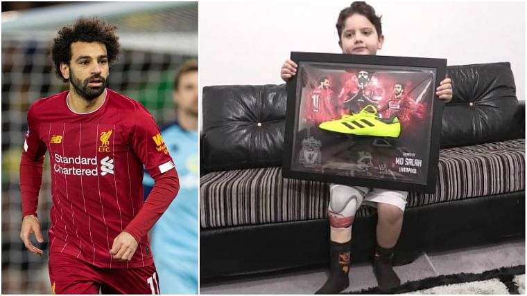 A heart of gold: Mohamed Salah sends signed boot to Syrian kid who lost part of his leg in bomb attack