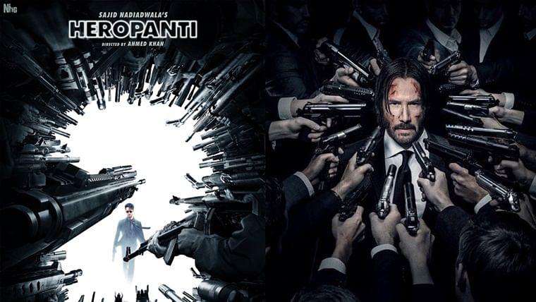 'Gareebo ka John Wick': Twitter compares Tiger Shroff's Heropanti 2 poster with Keanu Reeves' franchise