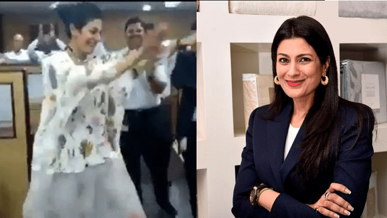 Welspun CEO Dipali Goenka dancing with her employees in office breaks internet