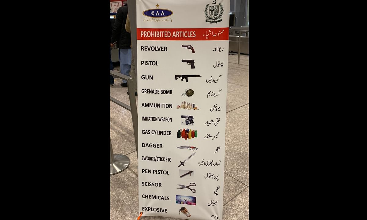No gas cylinders, no swords: Check out the full list of 'prohibited items' at Pakistani airports