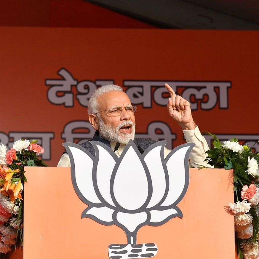 PM Modi targets Kejriwal for removing AAP manifesto from its website