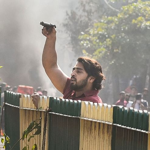 Delhi violence: Shahrukh, the suspect who opened fire at police personnel has been identified and detained