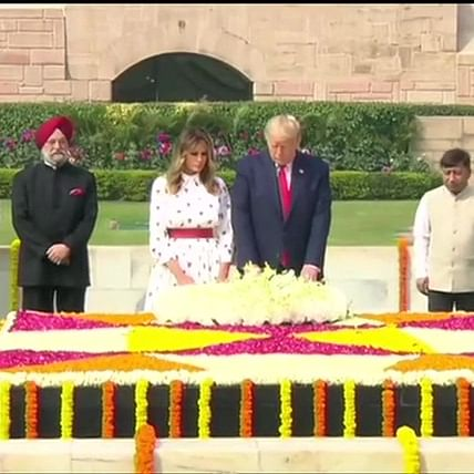 Donald Trump India visit Updates: US President, First Lady pay tribute to Mahatma Gandhi at Raj Ghat