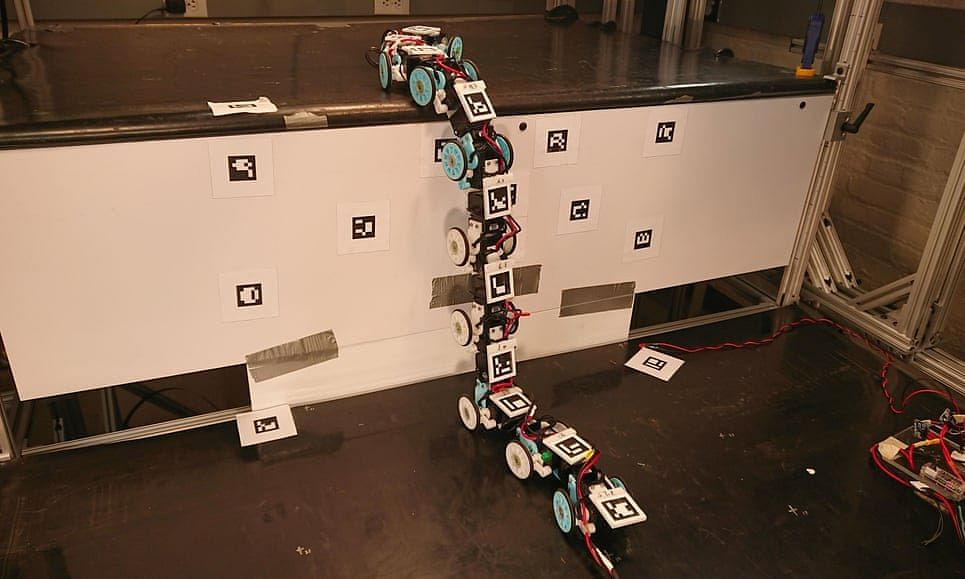 Inspired by snakes, this robot can climb steps