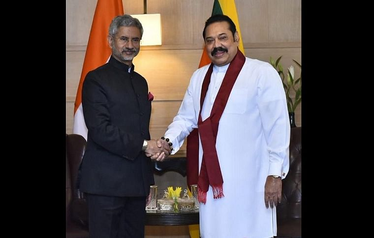 Sri Lankan PM Mahinda Rajapaksa holds meeting with Modi, EAM Jaishankar