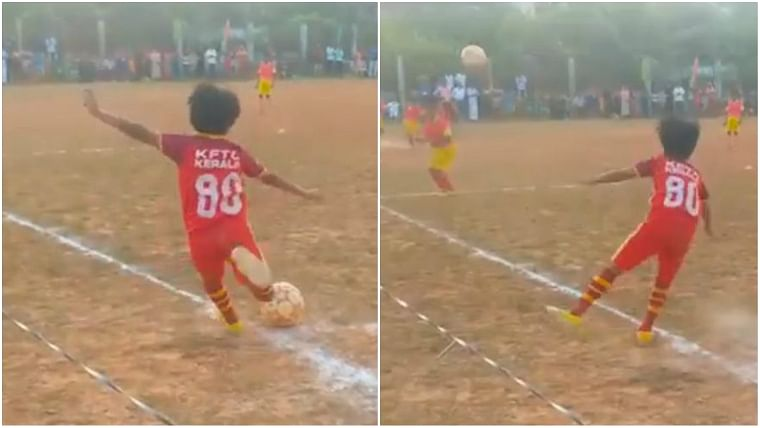 This 10-year-old Kerala kid's zero-angle goal would blow David Beckham away
