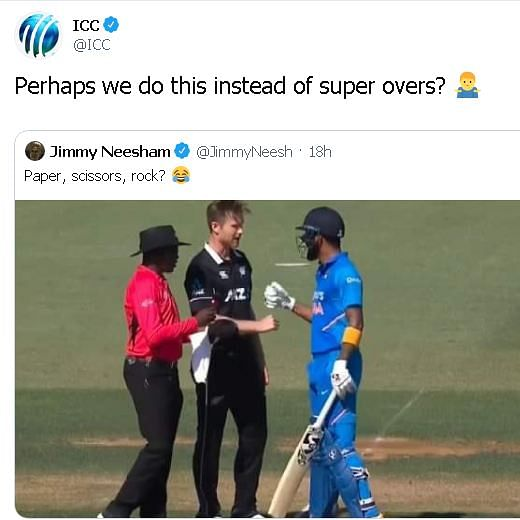 Rock, Paper, Scissors: ICC suggests interesting alternative to super-overs