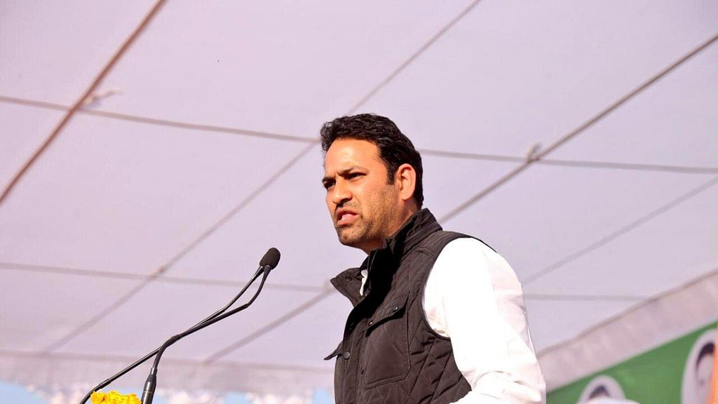 Agriculture Minister Sachin Yadav