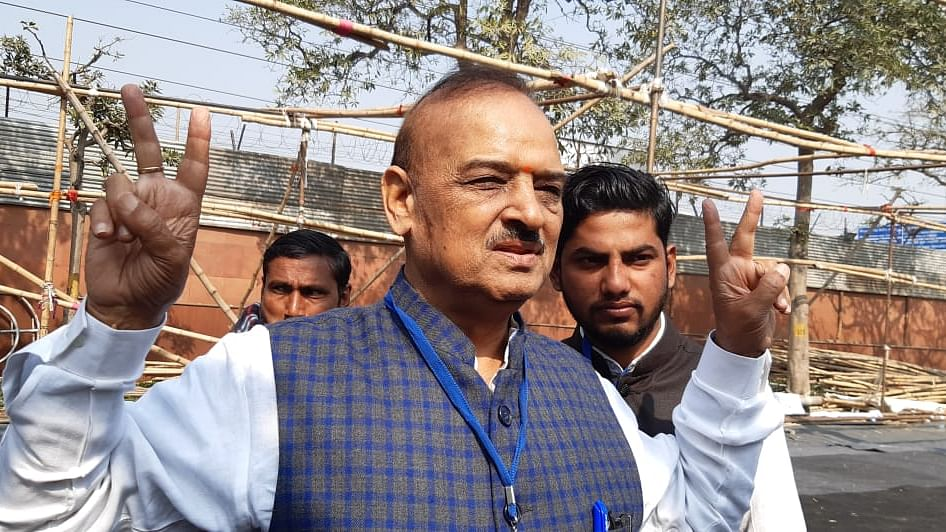 Now, OP Sharma hits out at Kejriwal with 'terrorist' barb