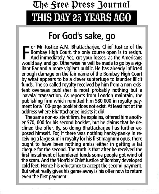 This day 25 years ago: For God's sake, go