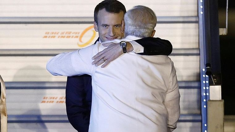 French President Emmanuel Macron and PM Narendra Modi