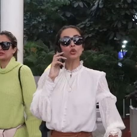 Watch video: Malaika Arora has a diva moment with her driver at the airport