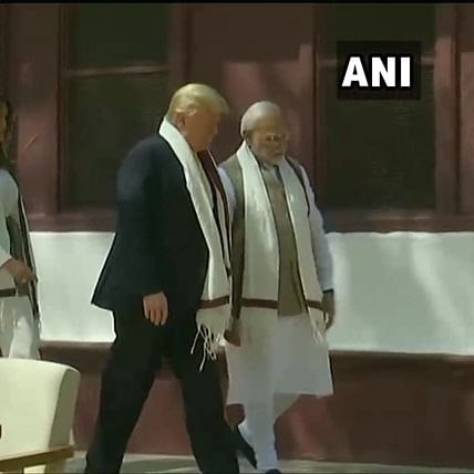Donald Trump India visit Updates: Trump, First Lady Melania, PM Modi arrive at Sabarmati Ashram
