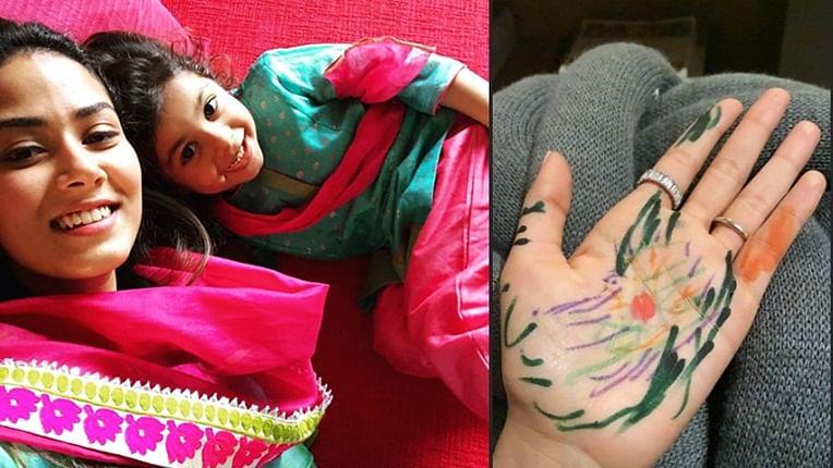 Shahid Kapoor's daughter Misha turns mehendi artist for mom Mira