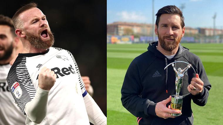 Wayne Rooney and Lionel Messi