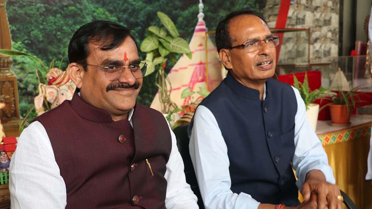 VD Sharma with Shivraj Singh Chouhan