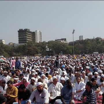 Mumbai Protest: People gathered at Azad Maidan to protest against CAA-NRC-NPR