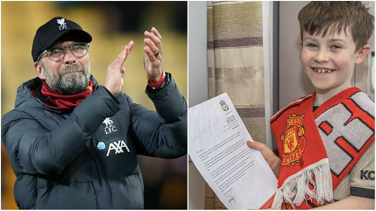 Oozing class: Jurgen Klopp responds to 10-year-old Man Utd fan who asked him to stop winning