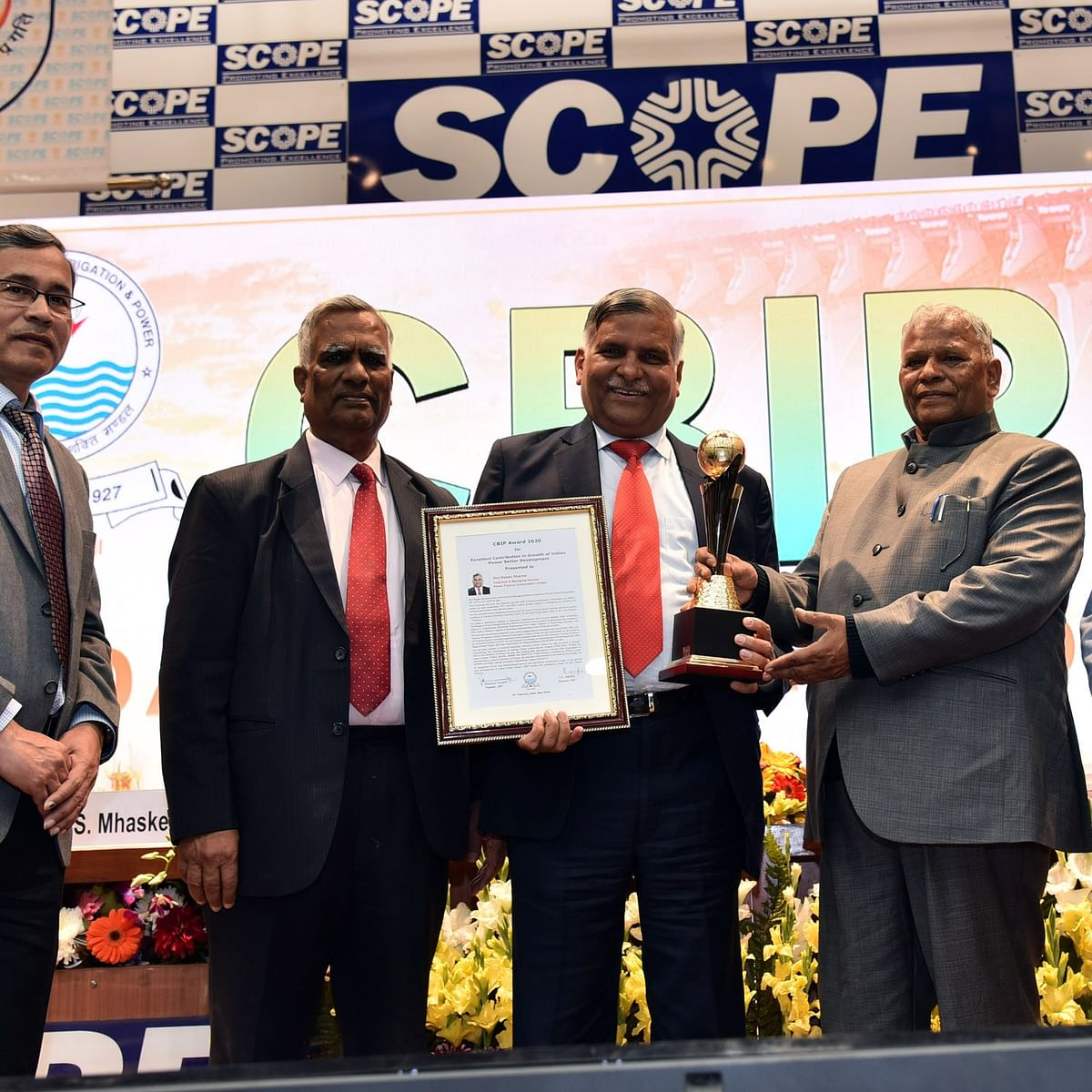 Rajeev Sharma, CMD, PFC bags 'CBIP Award For Outstanding Contribution To Power Sector'