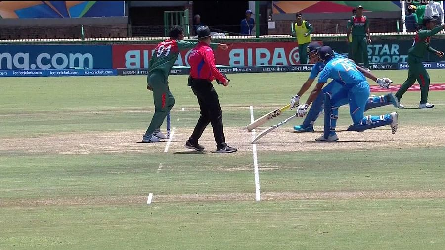 'In Pakistan's footsteps': Twitter trolls Boys in Blue after ridiculous run-out in U-19 World Cup