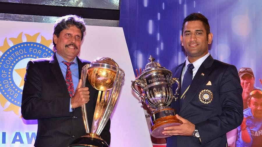 Kapil Dev and MS Dhoni