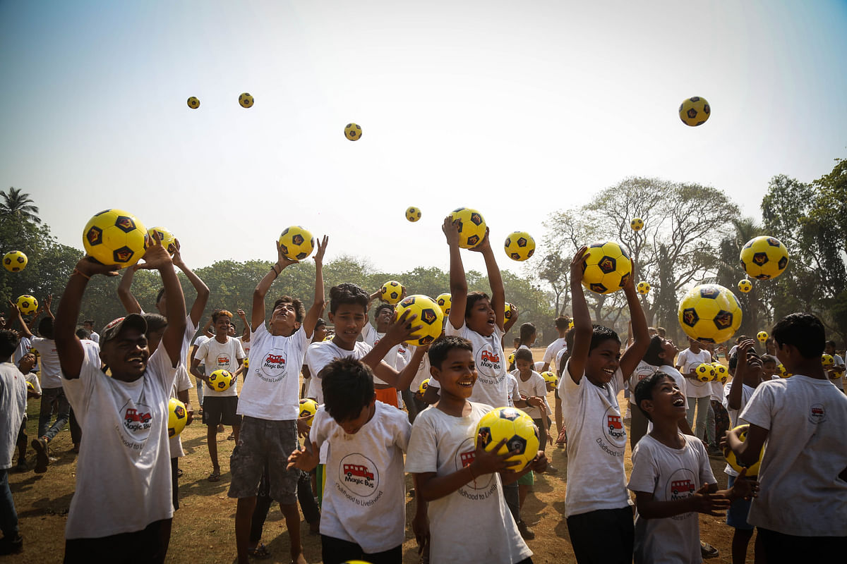 Premier League's Watford FC organises surprise 'ball-drop' for 600 slum children