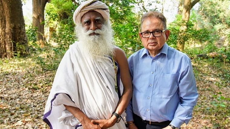 ICJ Judge Dalveer Bhandari meets Sadhguru at Isha Yoga Center