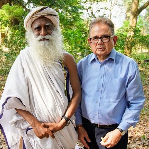 ICJ Judge Dalveer Bhandari meets Sadhguru at Isha Yoga Center