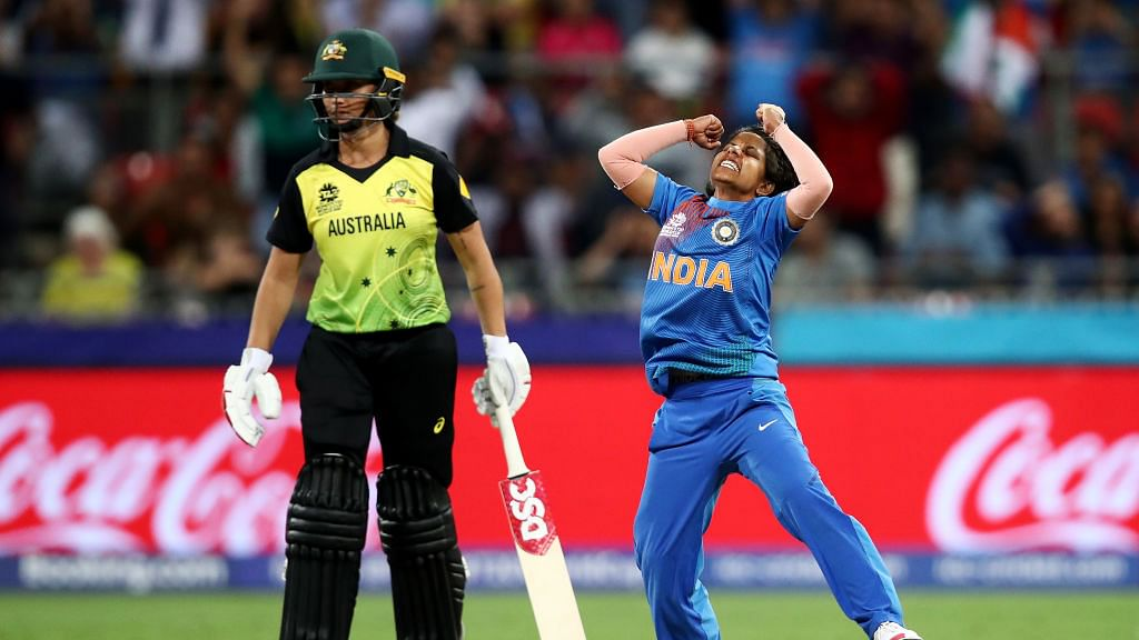 Poonam Yadav played a big part in India's win over Australia