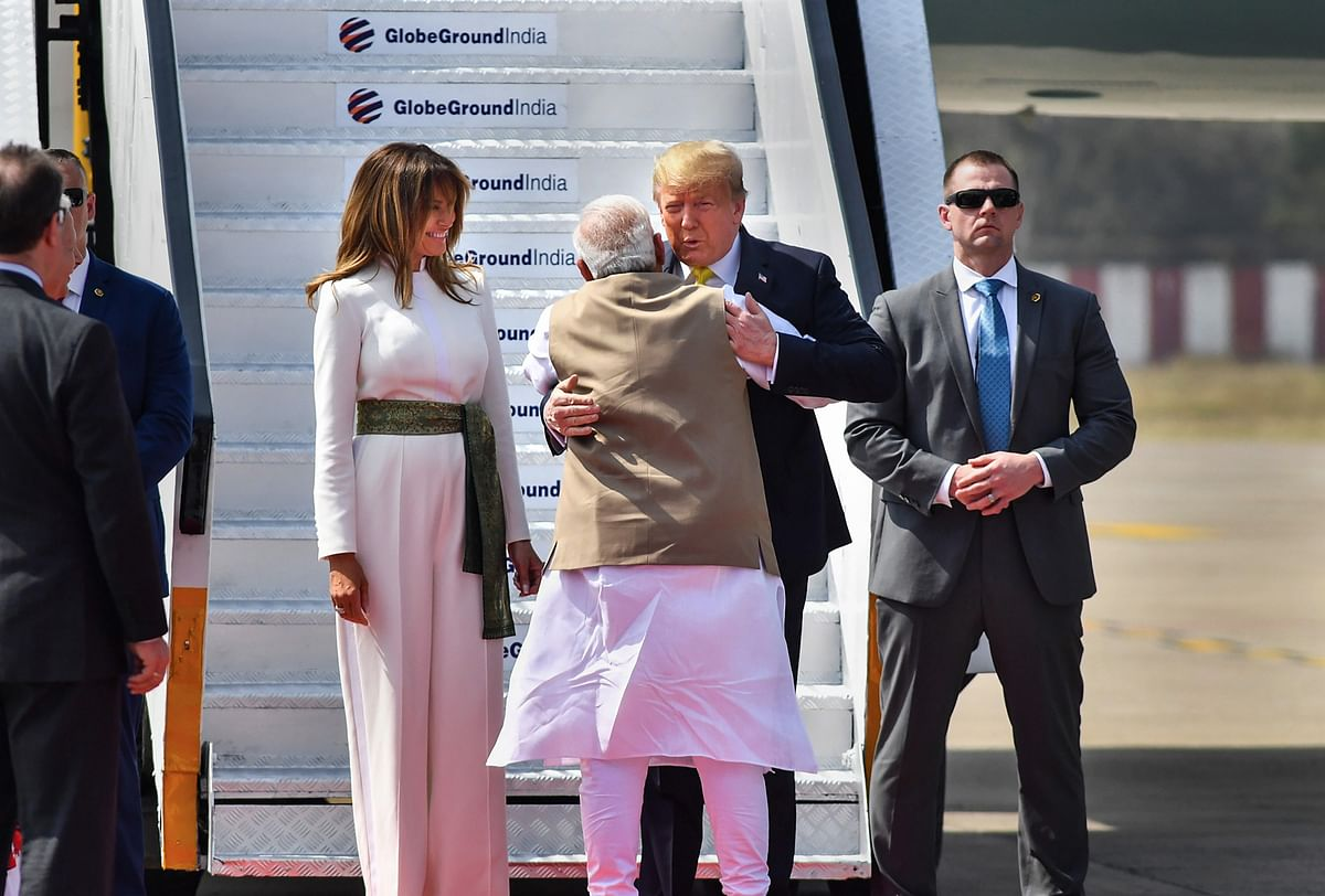 Donald Trump India visit Updates: Trump, First Lady Melania, PM Modi  arrives at Motera Stadium