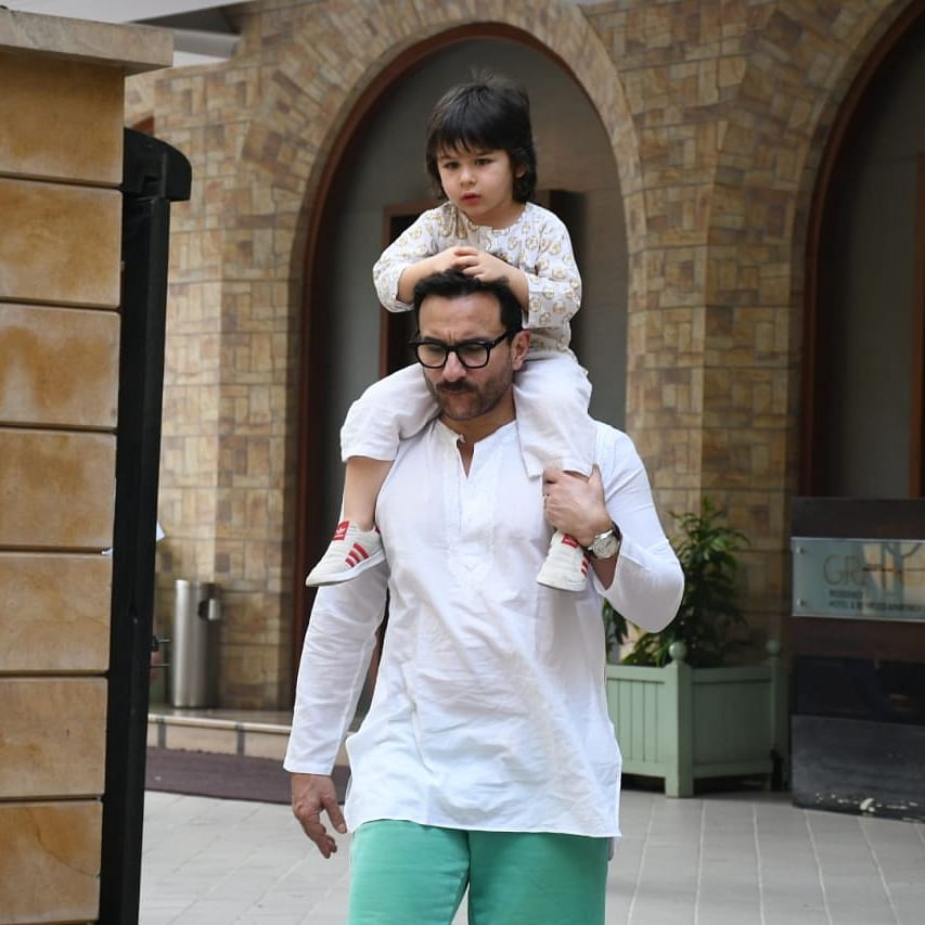 'It's a task to work with your own kid': Saif Ali Khan on fan's suggestion to star in 'Baby's Day Out' remake with Taimur