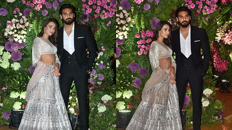 Ahan Shetty and Tania Shroff make it official at Armaan Jain's wedding