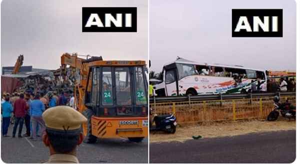Nineteen people died in a bus-truck collision near Avinashi town of Tamil Nadu