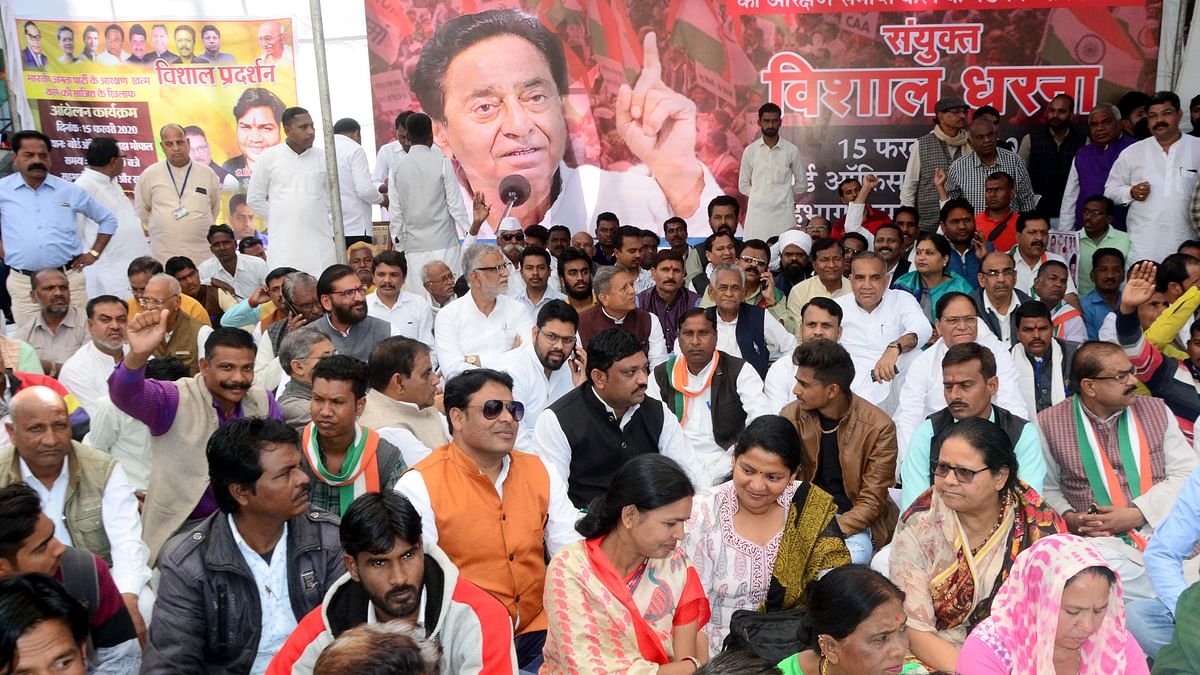 Madhya Pradesh: Congress holds demo to 'expose Modi govt's conspiracy to end reservation'