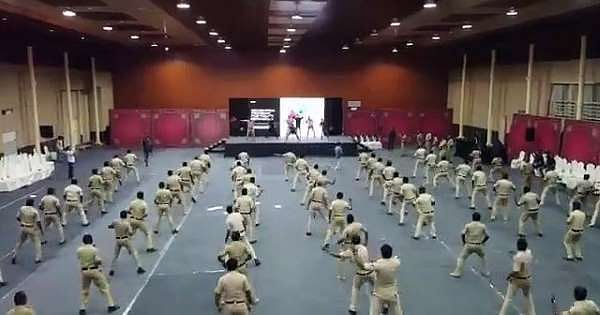 'Great initiative': Netizens amused as Bengaluru cops learn Zumba to beat stress