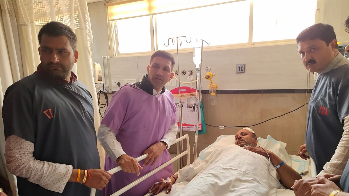 Sports minister Jitu Patwari reached Choithram Hospital to meet the victims on Thursday morning.