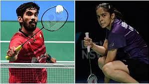 Kidambi Srikanth (L) and Saina Nehwal