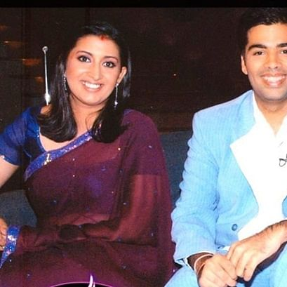 Flashback Friday: Smriti Irani shares old pic with Karan Johar, blames KWK hamper for her weight gain