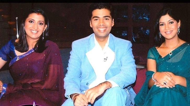 Flashback Friday: Smriti Irani shares old pic with Karan Johar, blames KWK hamper for her weight gain