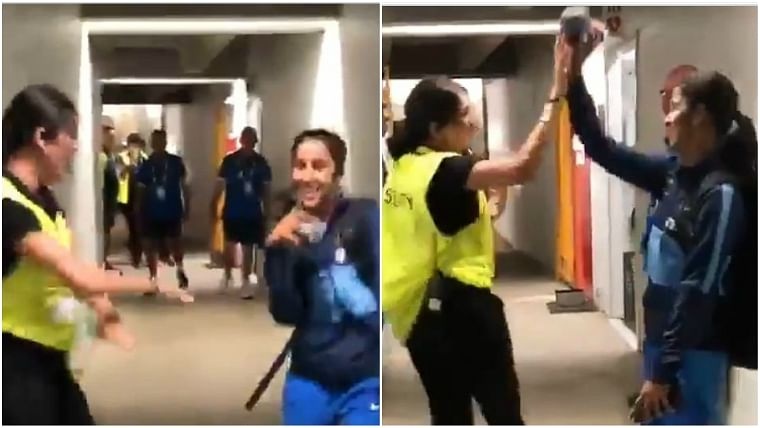 Watch video: Jemimah Rodrigues shows off her dance skills with an off-duty security guard