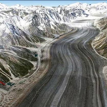 Himalayan glaciers altered before people arrived