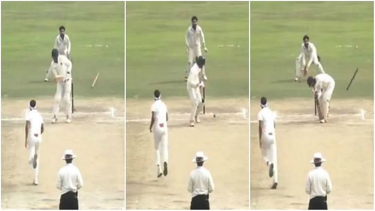 Watch: Punjab's Siddharth Kaul takes incredible middle stump hat-trick